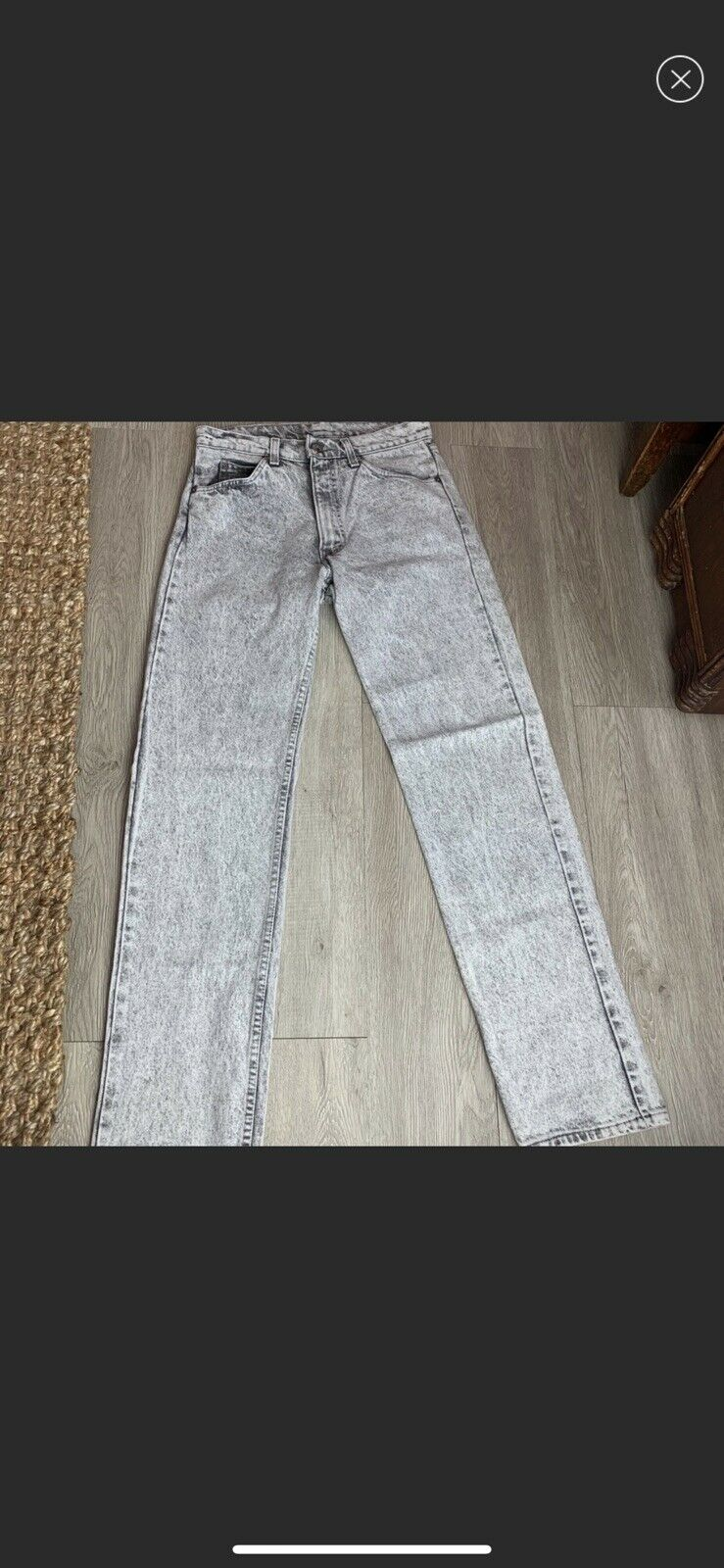 vintage high rise levis made in USA Gray - image 4