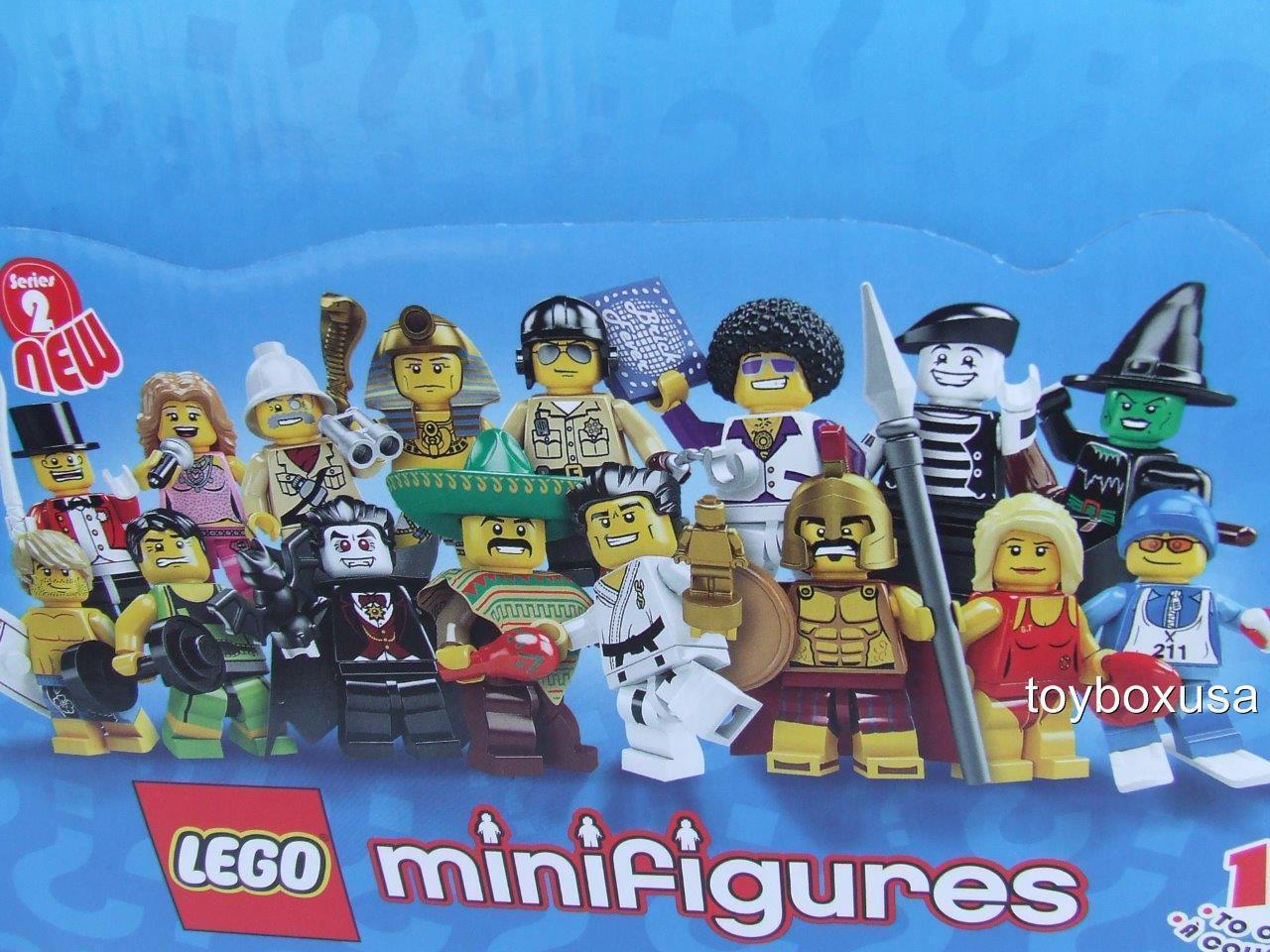 Nuevo  Lego 8684 Series 2 (caso de 60 Minifigura Paquete) Caja Sellada Raro Conjunto