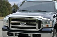 OE Style CHROME Bug Shield 1999-07 FORD F250 SUPER DUTY Bug Deflector Hood Guard