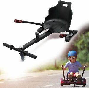 Hoverkart-Noir-Siege-de-Kart-Ajustable-pour-Adulte-et-enfant-hoverboard