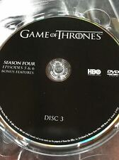 Game of Thrones Season 4 REPLACEMENT DVD Disc #3 ONLY