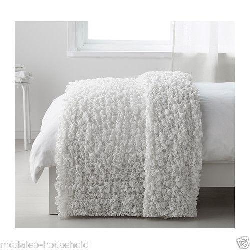 Ikea OFELIA Bedspread blanket,white 130 x170cm 80/% polyester,20/% acrylic PUP10