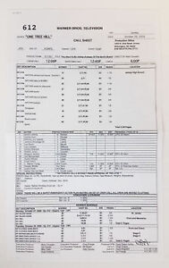 ONE-TREE-HILL-set-used-CALL-SHEET-Season-6-Episode-12