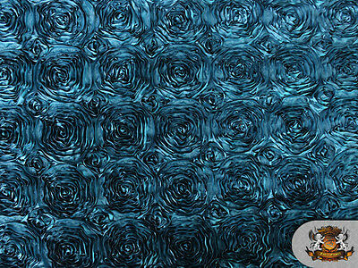 "Rosette Satin Fabric/ 56"" Wide / Sold by the yard"