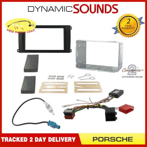 Non BOSE Double Din Car Stereo Fascia Fitting Kit For Porsche Cayenne 2002-2006