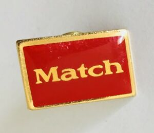 Match-Internet-Dating-Retro-Pin-Badge-Vintage-D7