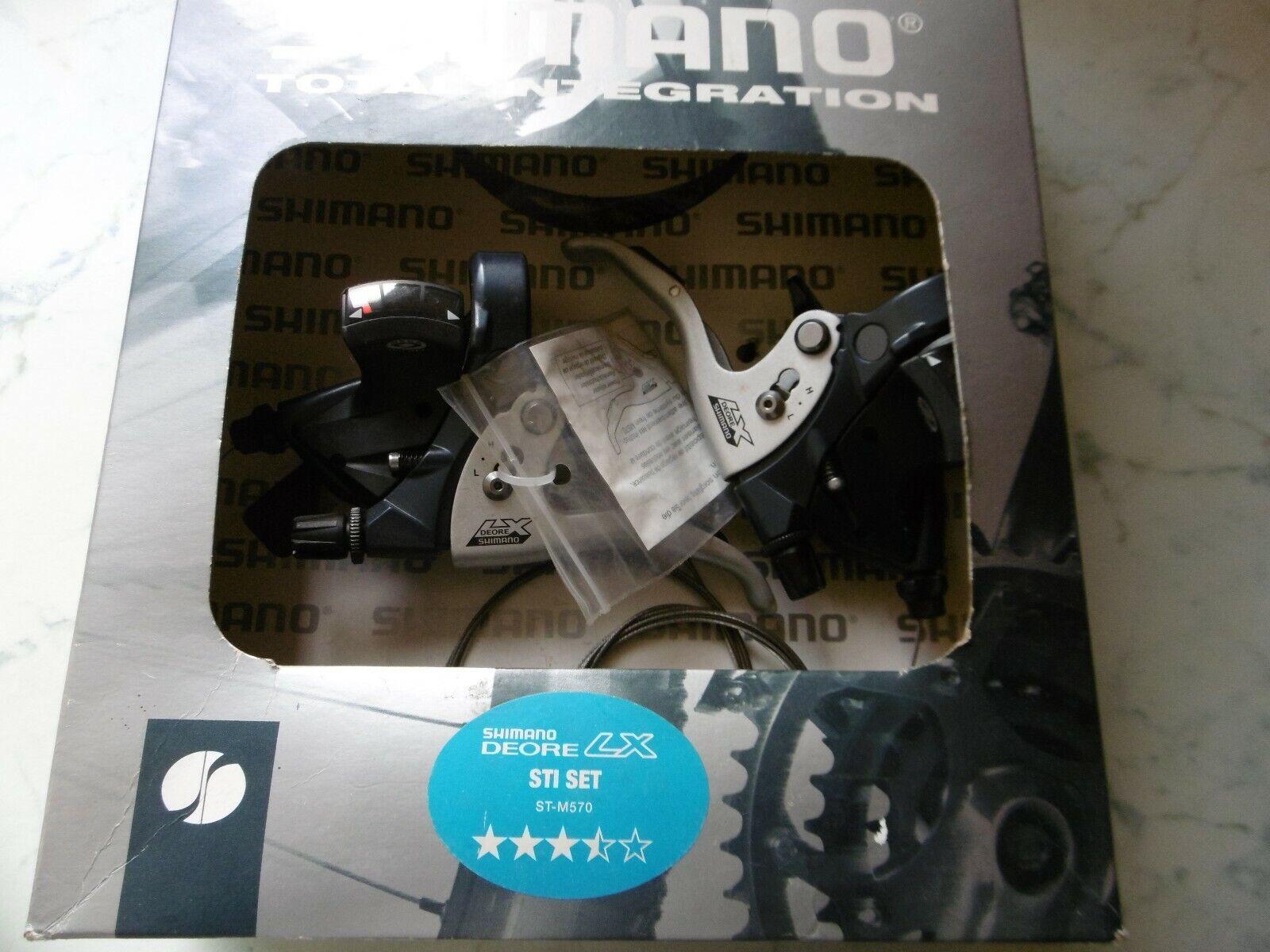 Shimano Deore LX ST-M570 3X9 Sp Shifter STI Set NOS