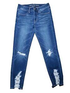 16fac1ff63457 American Eagle Jegging Crop Jeans Low Rise Next Level Stretch Medium ...