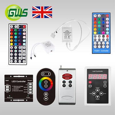 Striscia Led Rgb.3528 5050 Rgb Led Strip Light Remote Controller Receiver Kit Led Strip Connector Ebay