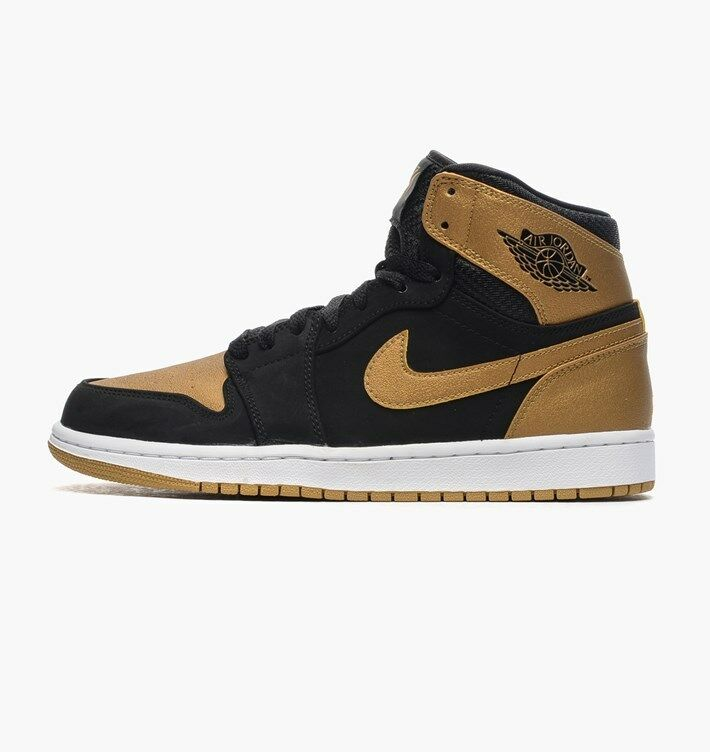 Nike MEN'S AIR JORDAN 1 Retro High CARMELO Black Metallic gold SIZE 17 BRAND NEW