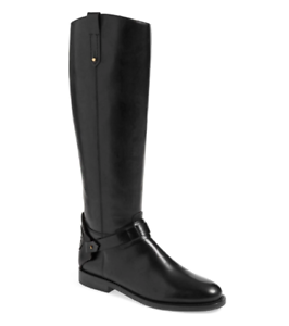 Tory Burch Derby Women's Black Leather Riding Boot Sz 5M 2633 *