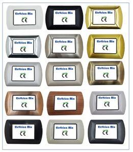 Placche Metallo compatibili Bticino Living International 3 4 7 posti