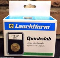 5 Lighthouse Quickslab Holders 41mm Casino Medallion Token Graded Coin Case Slab