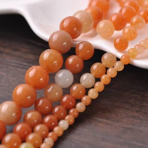 4mm 6mm 8mm 10mm Piedra Preciosa Piedra Natural Rojo Aventurina redonda suelta espaciador perlas