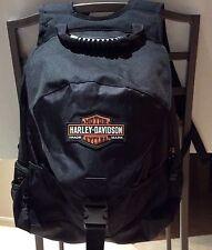 NWOT HARLEY DAVIDSON Black Backpack and Helmet Bag with Bar and Shield Logo NEW