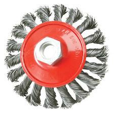 100mm Twist-Knot Brush-per angolo di tritatutto-Rimozione di ruggine, pulizia di metallo