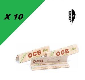 OCB-Slim-Canapa-Bio-lotto-di-10-pacchetti-da-cartine