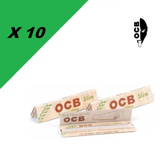 OCB Slim Chanvre Bio lot de 10 carnets de feuilles