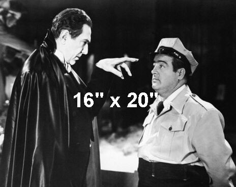 "Abbott /& Costello~Frankenstein~Lugosi~Poster~Photo~16/"" x  20/"""