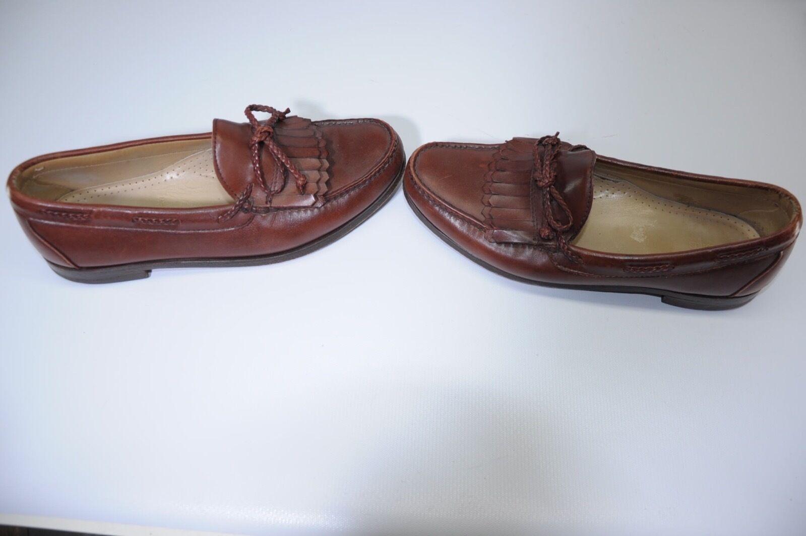 Allen Edmonds Woodstock braun Double Kiltie Braided Tassel Tie Loafers Loafers Loafers 11 D USA 9cbb24