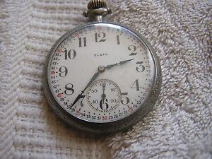 Antique-Elgin-Pocket-Watch-with-Nice-Dial