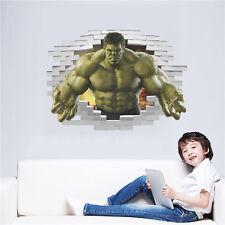 3D Removable Hulk Superhero Avengers Wall Sticker Mural Decal Baby room Decor