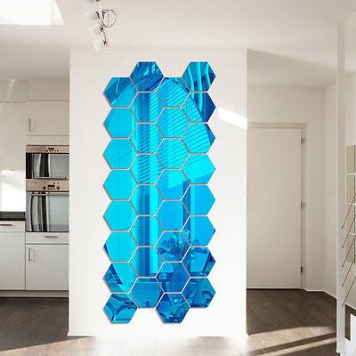 10pcs Removable 3D Mirror Acrylic Wall Sticker DIY Art Vinyl Decal Home Decor