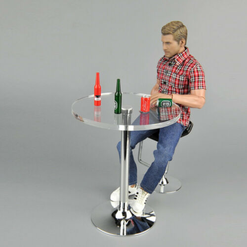 "ZYTOYS 1//6 Scale Crystal Round Bar Desk Beer Bottle Model for 12/"" Figure Toys"