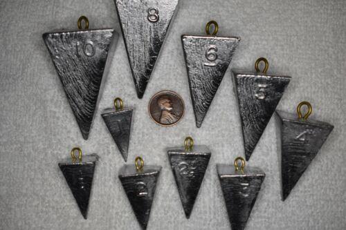 14 oz 6 Lests-LIVRAISON GRATUITE Pyramide Surf Pêche Plomb environ 396.89 g