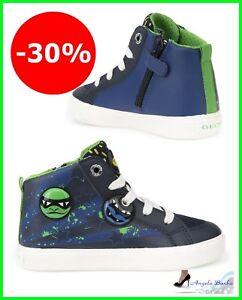 Geox Ragazzo Dettagli Alte Bimbo 24 Pelle 32 Su Invernali Da Bambino Junior Scarpe Sneakers shdrtQ