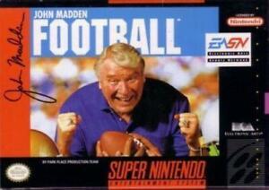 John Madden Football Super Nintendo Game SNES Used