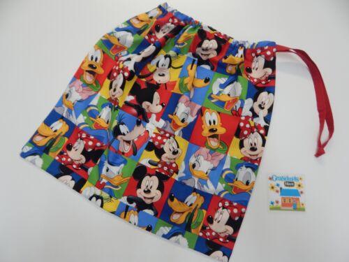 Disney Mickey Minnie Drawstring Bag Tote Library Kindy Swimming Books Sleep Over