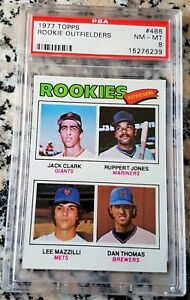 JACK-CLARK-1977-Topps-Rookie-Card-RC-PSA-8-San-Francisco-Giants-WOF-340-HRs