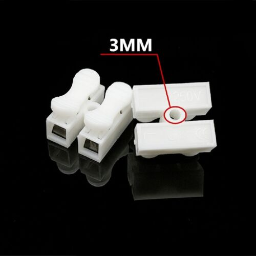 30x High Quality Quick Cable Clamp Terminal Block Spring Connector Wire 2p CH2 S