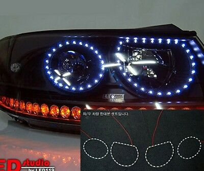 [Kspeed] (Fits: Hyundai 2007-2012 Santafe CM) exLED Circle eye LED module