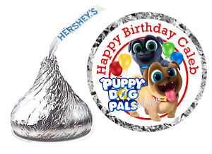 Puppy Dog Pals Birthday Party Favors Hershey Kiss Kisses Labels Ebay