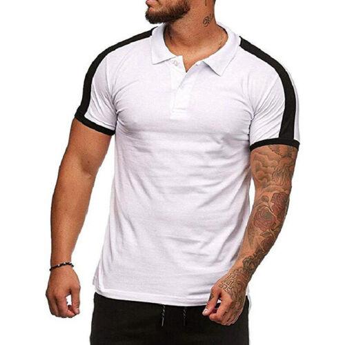 Fashion O-Neck Gym Bodybuilding Men Muscle Sport Top T-shirt Short Sleeve Tees