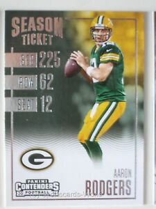 AARON-RODGERS-PANINI-CONTENDERS-2016-33-Green-Bay-Packers-NFL-Playercard