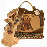 Petflys Uncle Monkey Pet Carrier Airline Approved Dog Cat Travel Tote Bag
