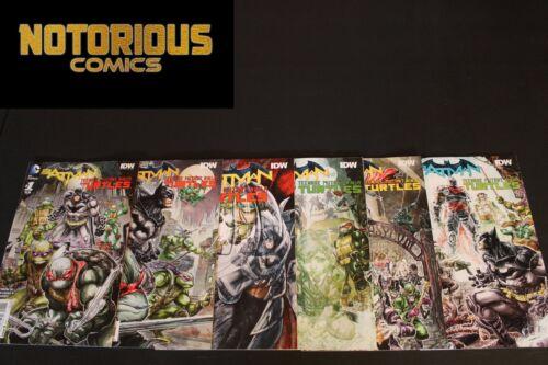 Batman Teenage Mutant Ninja Turtles 1-6 Complete Comic Lot Run Set DC Collection