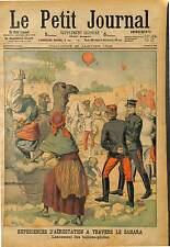 SAHARA TEST EXPÉRIENCE Hot Air Balloon Aérostat BALLON MILTAIRE ARMÉE  1903