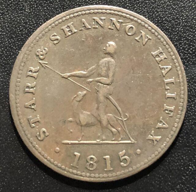 Canada (Nova Scotia) 1815 Half Penny Token: Breton 884/C334