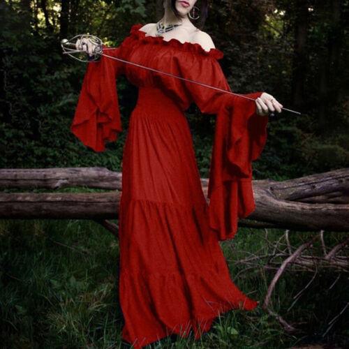 Victorian Halloween Women Cosplay Costumes Medieval Renaissance Princess Dresses