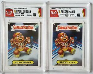 2 Card Lot HGA 9 2007 Hacked Hogan Russell Mania Garbage Pail Kids GPK