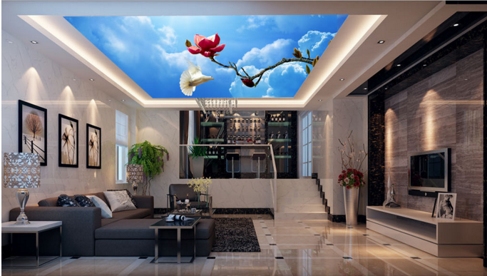 3D Flower Branches Sky 78 Wall Paper Wall Print Decal Wall Deco AJ WALLPAPER