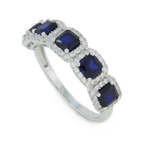 .925 sterling silver lab created Sapphire and,or CZ anniversary or wedding band