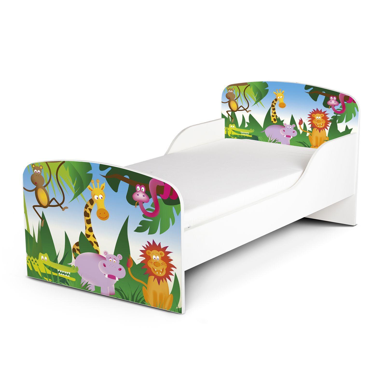 Jungle Design MDF Lit Enfant Nouveau Bois Animaux