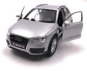 Audi-Modellino-Auto-con-Richiesta-Caratteristiche-Q3-Kompakt-SUV-Argento-Scala
