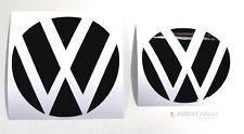 Emblem Ecken Schwarz Glanz vorne+hinten VW Golf 7 VII GTI GTD R Turbo Logo