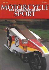 Motorcycle Sport Magazine June 1987 - Honda CB400A Hondamatic Kawasaki KLR600